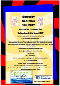 Sowerby Scorcher 2017 poster