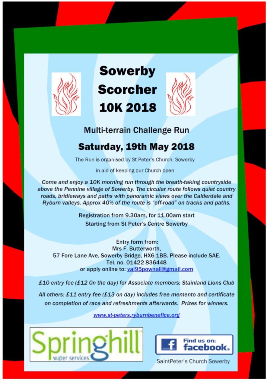Sowerby Scorcher 2018 poster