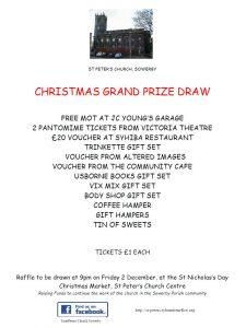St Nick's Raffle Prizes 2016