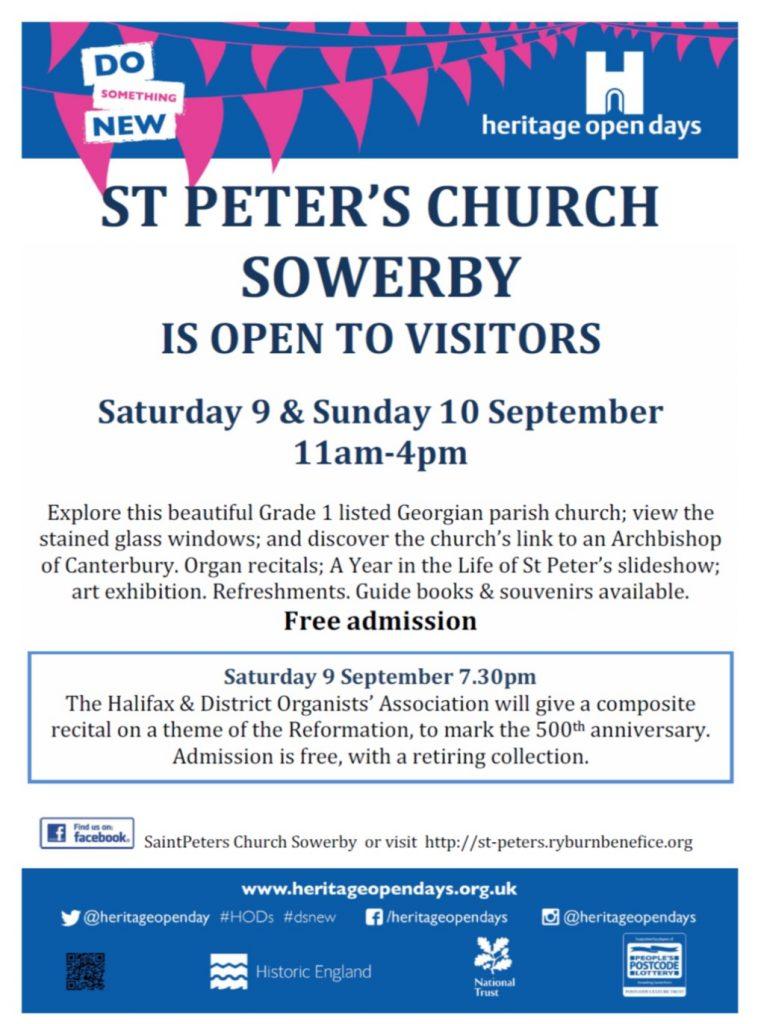 St Peter's Church, Sowerby, Heritage Weekend, Heritage,
