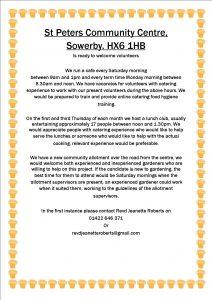 Volunteers needed poster