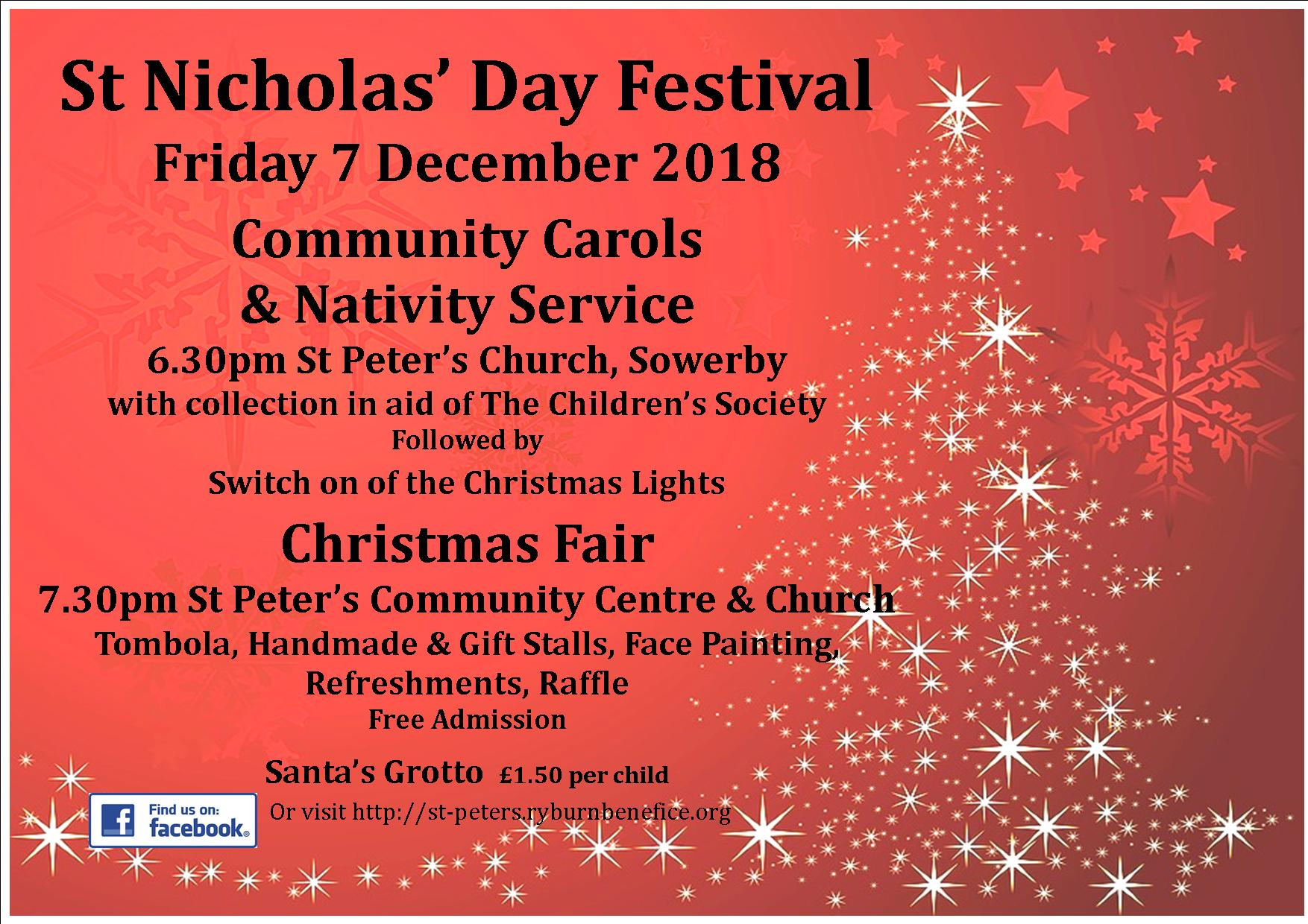 St Nicholas Day poster 2018